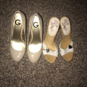 Guess  and G by guess shoes (2 pairs)